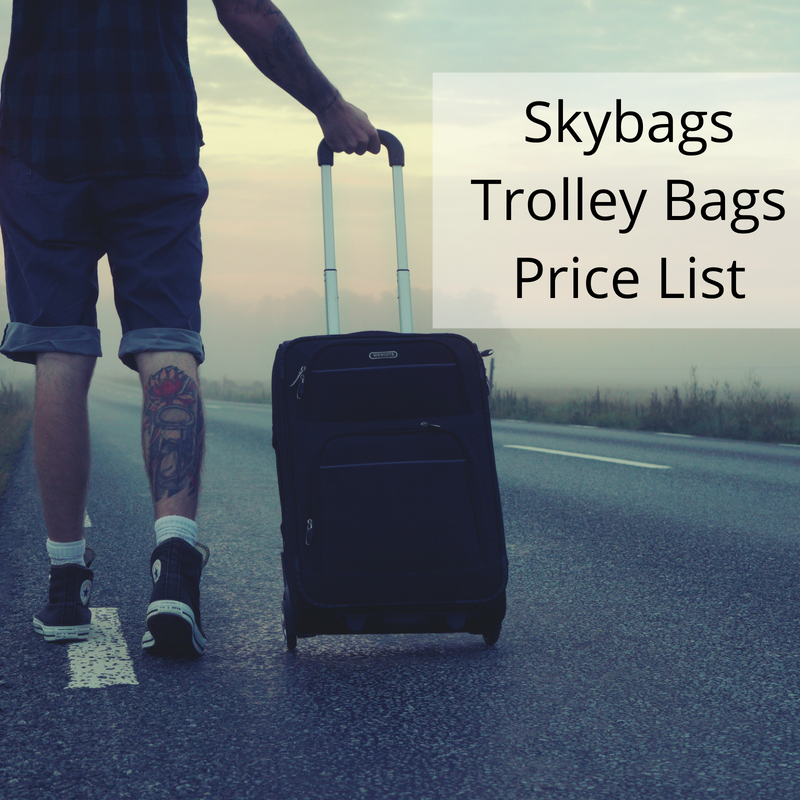skybags trolley bags price list